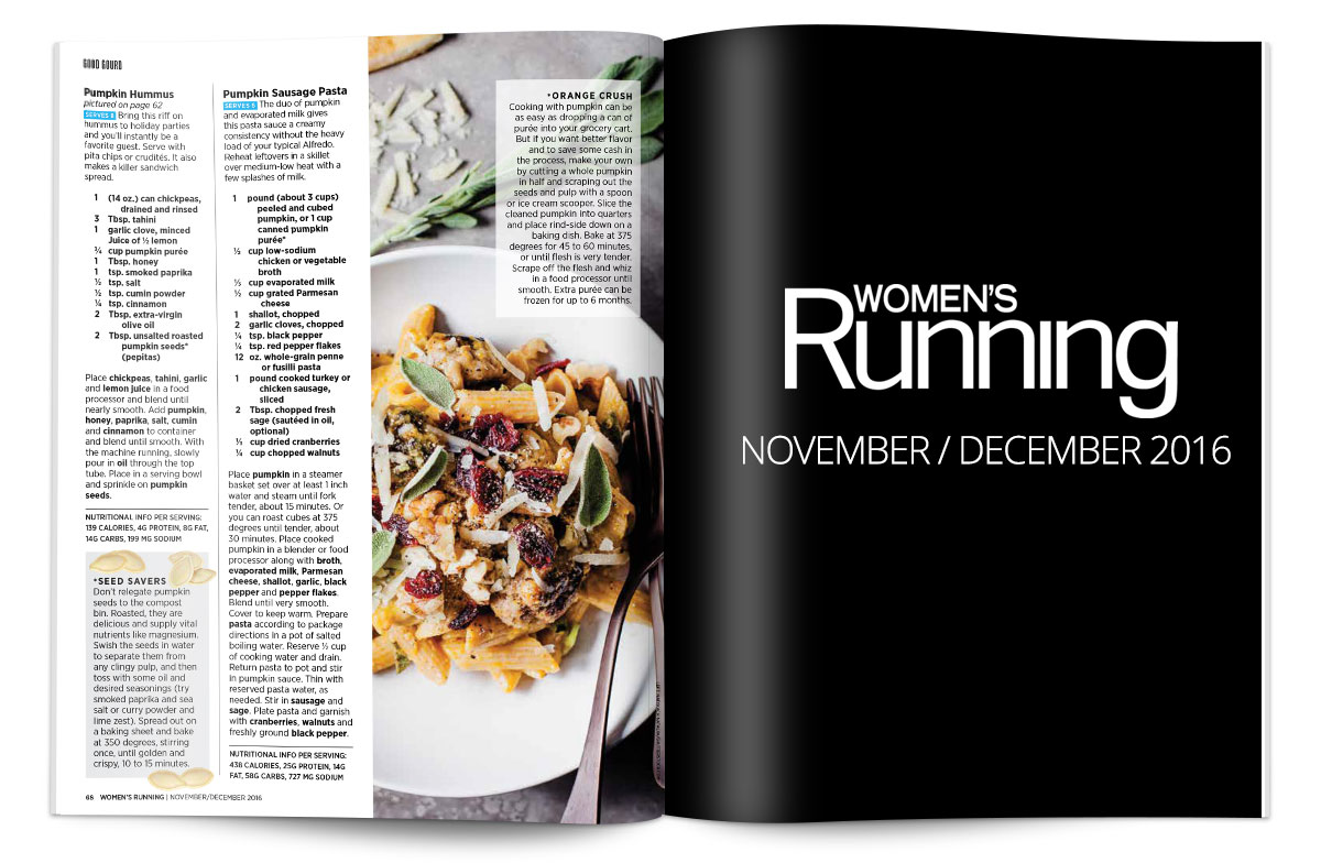 Women's Running Nutrition - Nov / Dec 2016